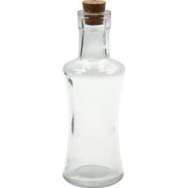 Fles met kurken dop