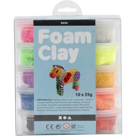 Foam Clay, basiskleuren, 10x35gr