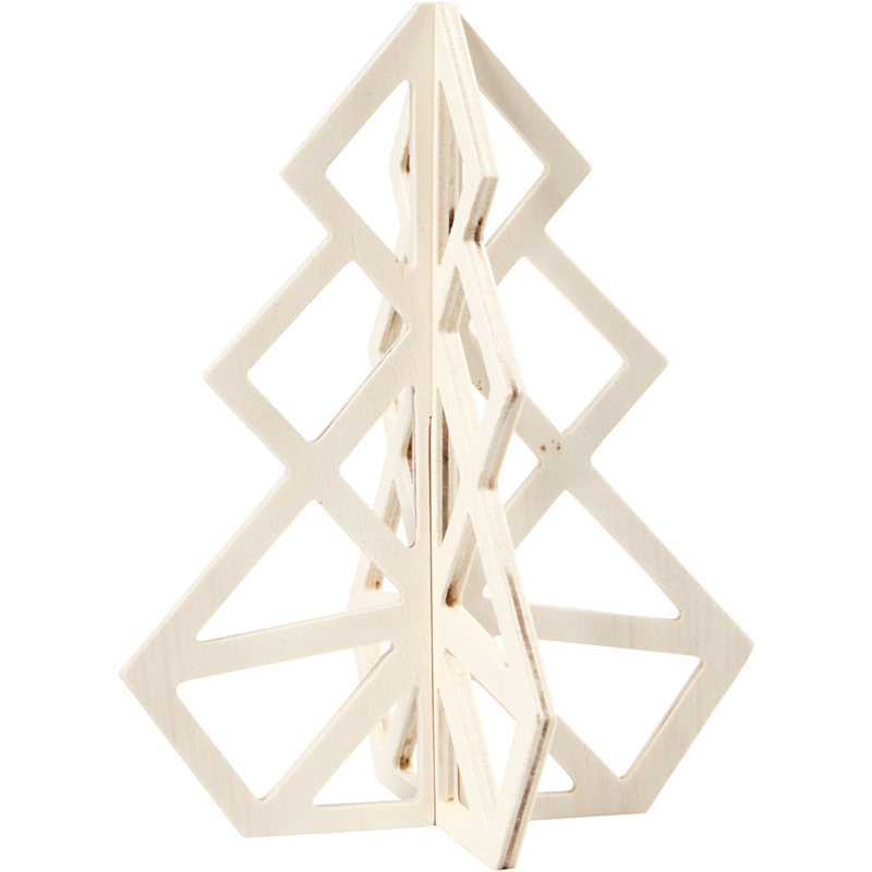 Geometrische kerstboom