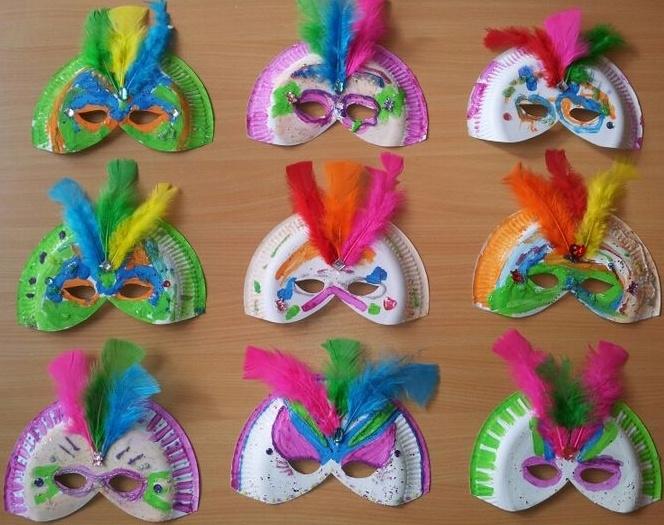 Carnavals masker knutselen - 11 februari 2015