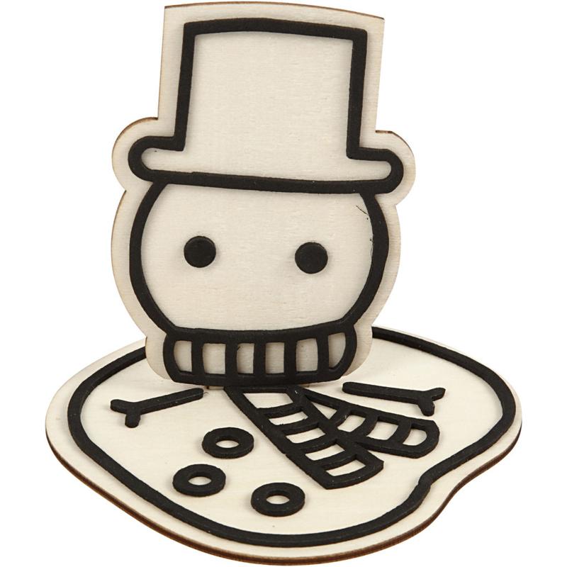 Gesmolten sneeuwpop - figuur om te decoreren