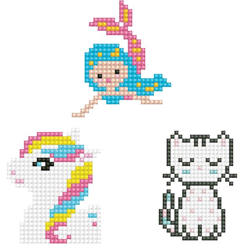 Diamond Dotz - Poesje, Zeemeermin, Pony