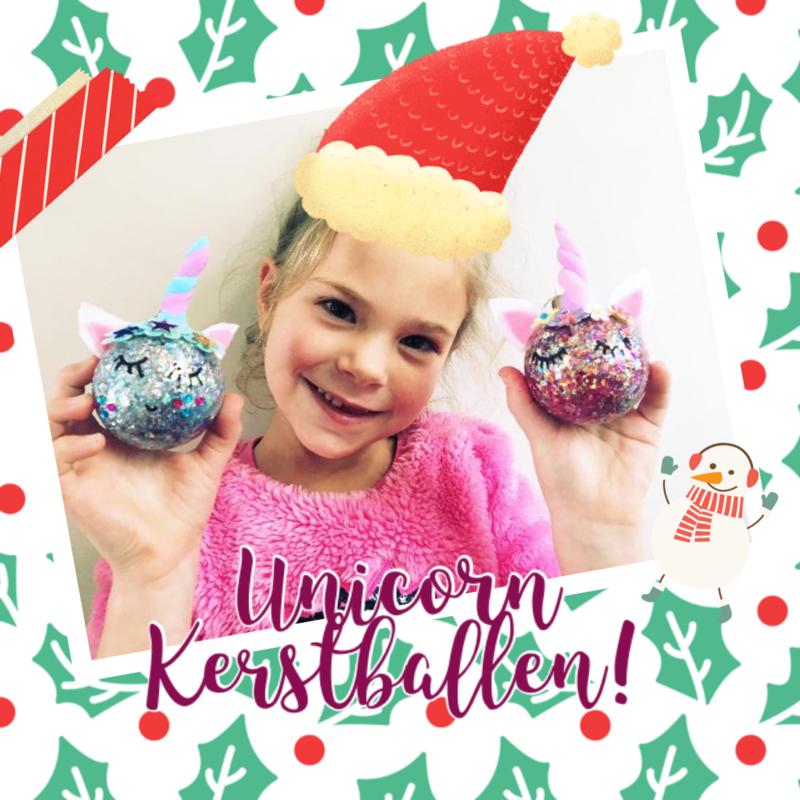 Kinderfeestje * Unicorn kerstballen! *