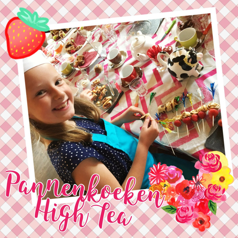 Kinderfeestje * Maak zelf je Pannenkoeken High Tea! *