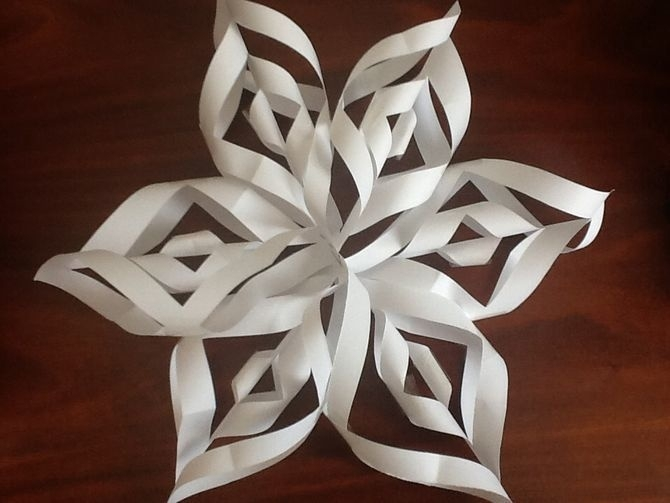 3D Sneeuwvlokken knutselen - 14 januari 2015