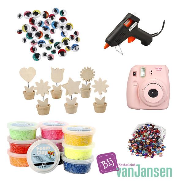 Knutselpakket * Foam Clay bloempotje met Instaxfoto! * vanaf 6 kids