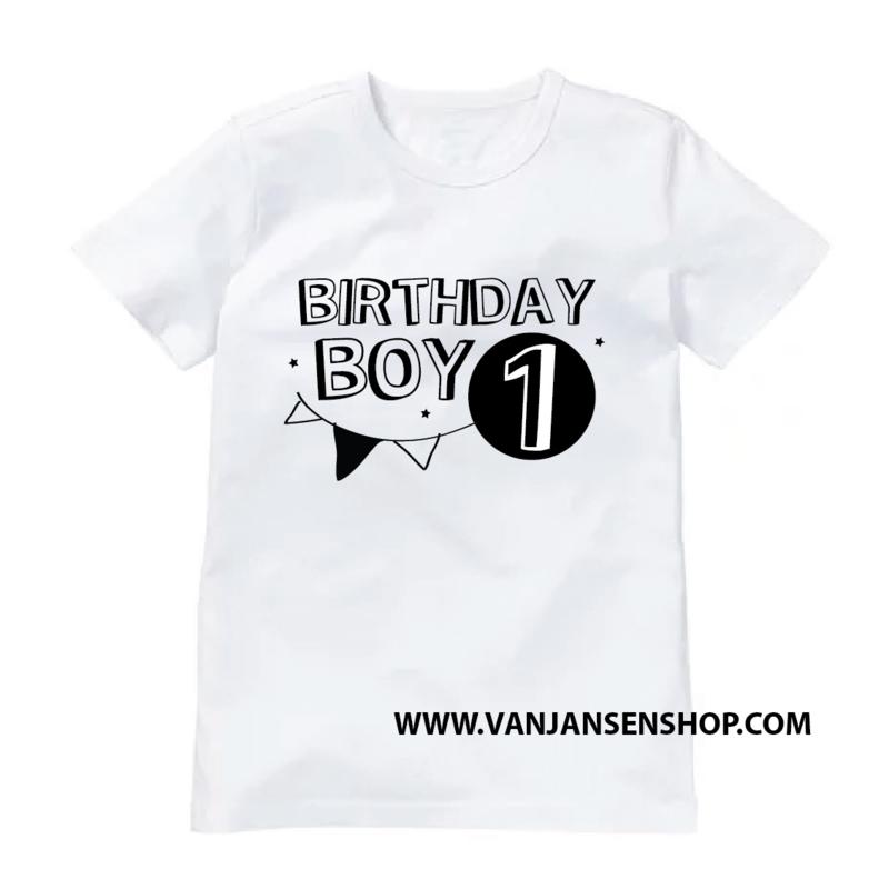 Birthday Boy - verjaardag shirt met 1 (of 2 of 3 etc.) jaar