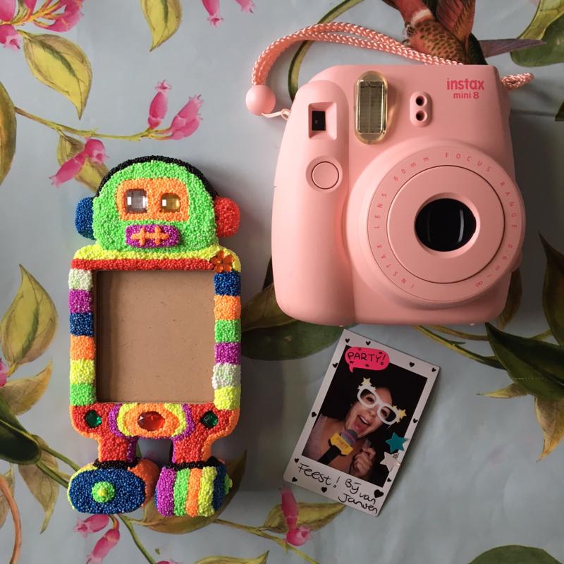 Knutselpakket * Foam Clay robot met Instaxfoto! * vanaf 6 kids