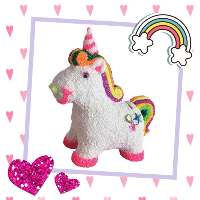 Kinderfeestje * Foam Clay unicorn alias eenhoorn! *