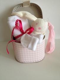 Kraampakket koffer roze