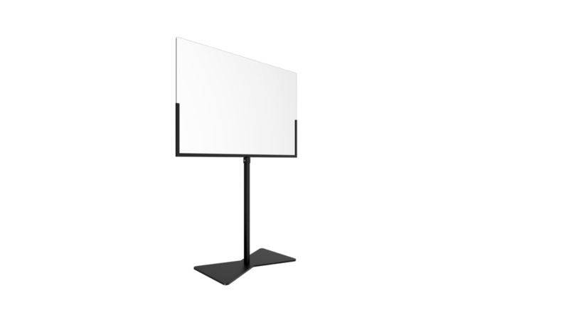 Table screen with floor stand