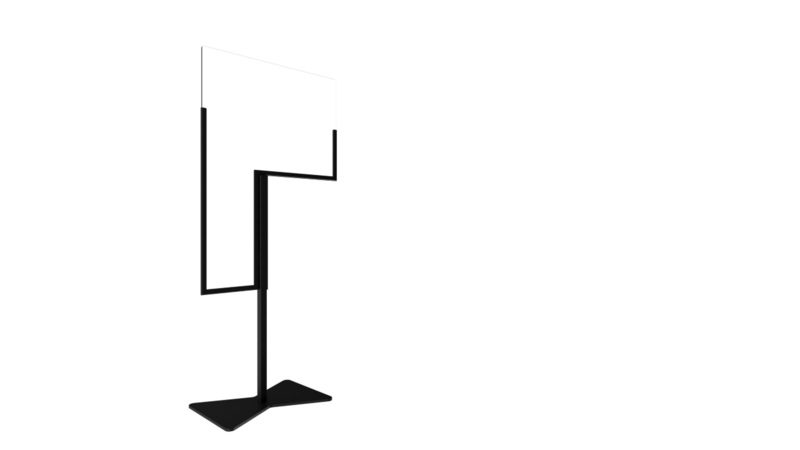 Extendable bar and high table screen with floor stand