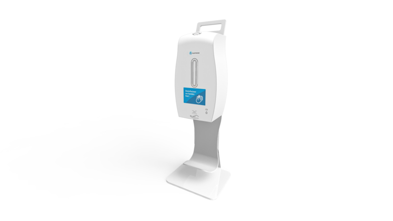 Sensor hand dispenser with counter stand