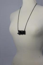 Zwart | zilver lange ketting
