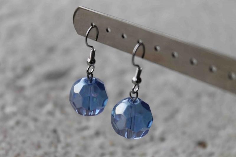 Blauw facet -glas-