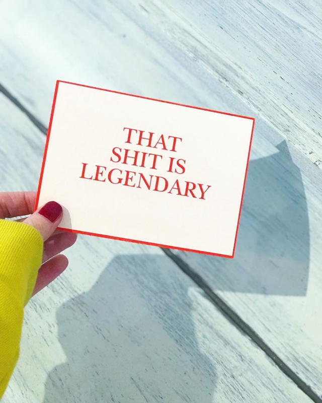 THAT SHIT IS LEGENDARY