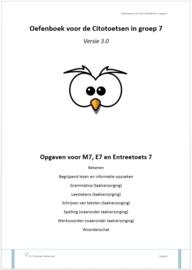 Oefenboek voor de Citotoetsen in groep 7 - Versie 3.0 (papieren versie)