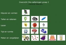 Oefenpakket voor de Citotoetsen in groep 2 (online opdrachten)