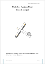 Citotrainer Begrijpend lezen Boekje 3 - Groep 5 (pdf-bestand)