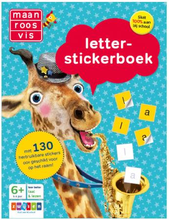 Maan Roos Vis Letter-Stickerboek