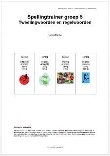 Spellingtrainer groep 5 - Tweeling- en regelwoorden (pdf-bestand)