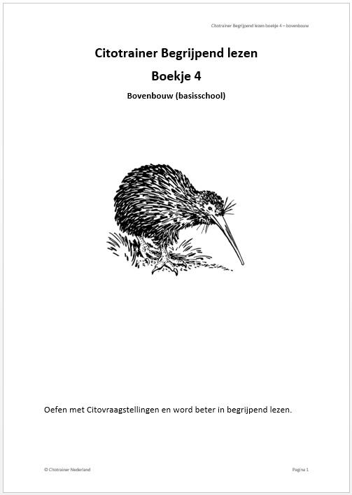 Citotrainer Begrijpend lezen Boekje 4 - bovenbouw (pdf-bestand)