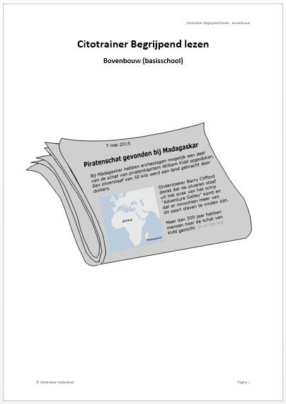 Citotrainer Begrijpend lezen Boekje 1 - bovenbouw (pdf-bestand)