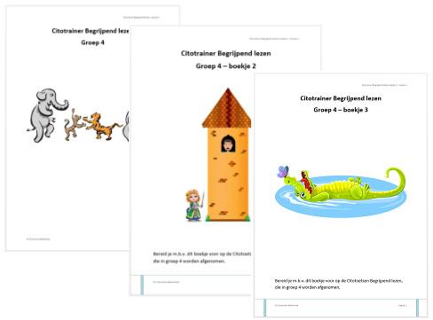 Combi Citotrainer Begrijpend lezen Boekje 1, 2 en 3 - Groep 4 (pdf-bestanden)
