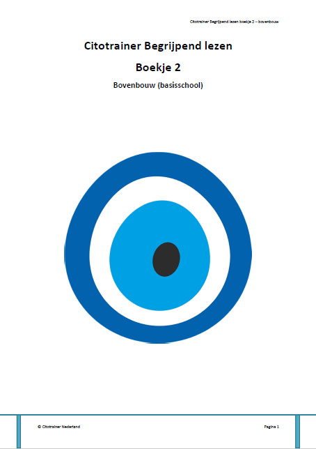 Citotrainer Begrijpend lezen Boekje 2 - bovenbouw (pdf-bestand)