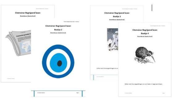 Combi Citotrainer Begrijpend lezen Boekje 1 t/m 4 - bovenbouw (papieren versie)