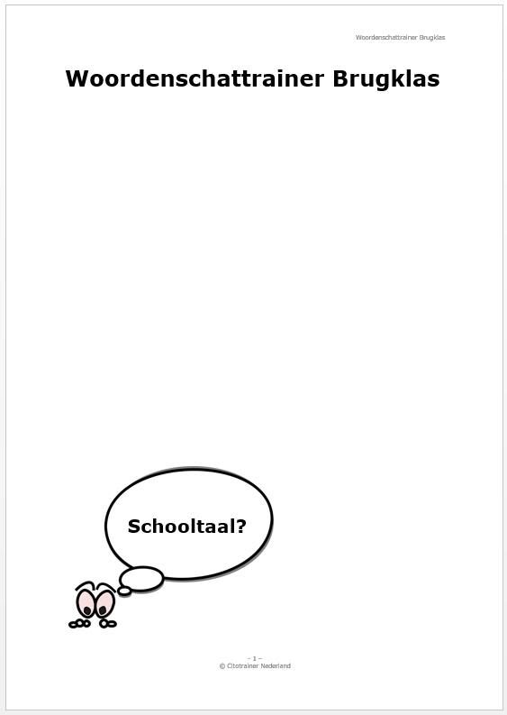Woordenschattrainer Brugklas (pdf-bestand)