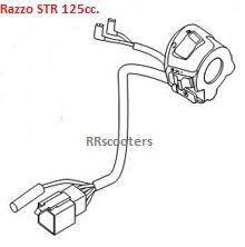 Razzo STR 125cc. - Stuurschakelaar RECHTS - 614-12Y2-001R
