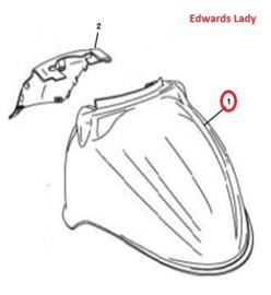 Edwards Lady - Voor spatbord (nr. 1) - kleur: glans zwart