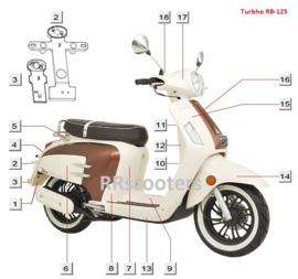 Turbho RB-125 / VIN plaatje (65415-EGB00 LF-089)