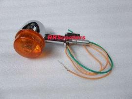 17 - richtingaanwijzer / knipperlicht bij achterlicht, links of rechts, ORANJE glaasjes (VAK B-27)