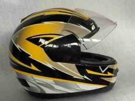 Helm - Integraal - kleur: geel/zwart (demo) - maat: 58-59 cm.