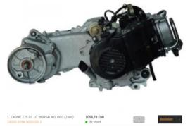 Neco Borsalino (125cc.) - Motorblok (10 inch.)
