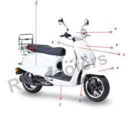 Motobi Rimini - Achter scherm wit LINKS - (nr. 1) - 601201-TAMD-0001WHI