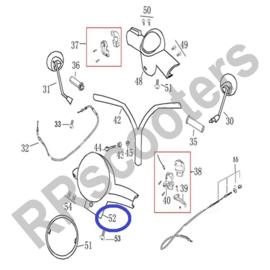 Razzo Latina - Koplampkap (glans zwart) - nr. 52 - (SWA 53206-ACAE-9000 ZW)