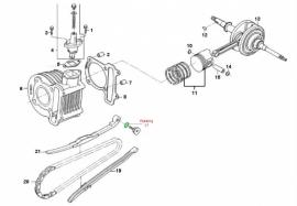 Pakking nr. 17 - O-ring kettinggeleider (VAK B-114)