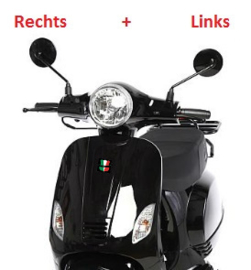 GTS Toscana - Spiegelset - GLANS ZWART - Links + Rechts (VAK E-30)