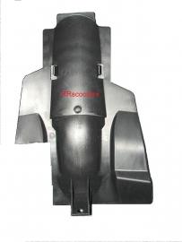 28 - zwart kunststof achterspatbord boven (VAK C-05 en VAK Z)