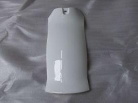 3 - Retro - kappenset, achterdeel voor spatbord ,  kleur wit