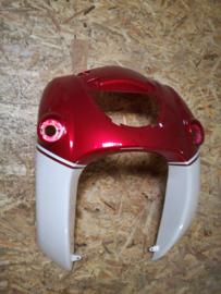 5 - Retro - kappenset, voorfront/voorkap, grote grille, kleur: bordeaux rood/creme