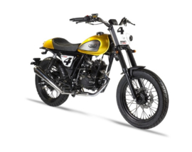 "Mash ""Dirt Track"" 50cc. - (kleur: geel) - 45 km/u"