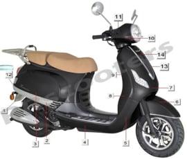 Razzo Toscana - Zij-scherm LINKS (nr. 3) - HT50QT-12-04-01 LF-044