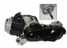 "motorblok 139 QMB GY6 compleet 50cc - 10"" (lange as) - Euro 3"
