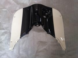 kappenset, Beenschild gelakt, kleur: Zwart / Wit (VAK E-5)