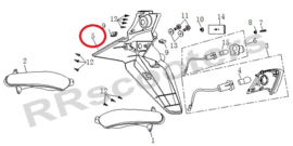 Razzo SR-50 / Kentekenplaathouder-Achterspatbord (nr. 5) - QBM-42701-1000