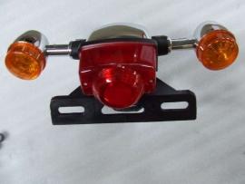 achterlicht compleet (oranje glaasjes) (VAK C-65)